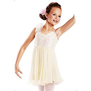 Beautiful Kids Sequin Organza Ruffle Décor Ballet Dance Dress