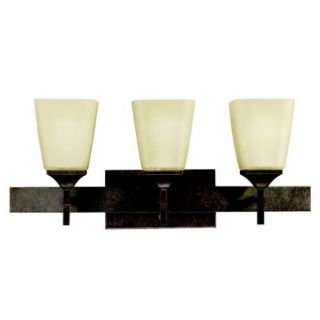 Kichler 5316MBZ Bathroom Light, Transitional Bath 3Light Fixture Marbled Bronze