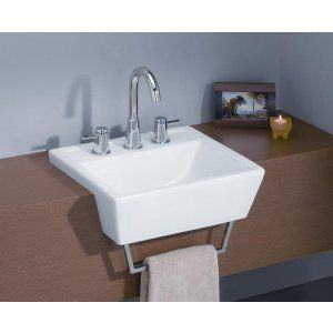 Cheviot 1241 WH 1 Sentire Semi Cassa Sink with Single Hole Faucet Drilling
