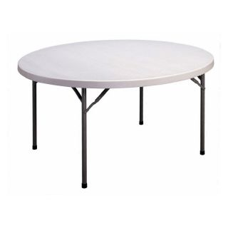 Correll 60 in. Round Blow Molded Folding Banquet Table Multicolor   FS60R 23
