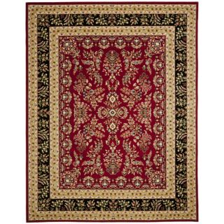 Lyndhurst Collection Red/ Black Rug (9 X 12)