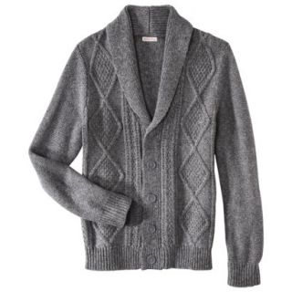 Merona Mens Shawl Collar Cardigan   Heather Gray S