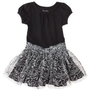 Cherokee Infant Toddler Girls Empire Dress   Ebony 12 M