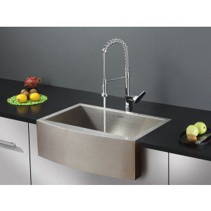 Ruvati RVC1451 Combo Stainless Steel Kitchen Sink and Chrome Faucet Set