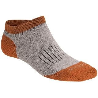 Woolrich Spruce Creek Hiker Socks   Merino Wool  Below the Ankle (For Men)   OATMEAL/RUST (S )