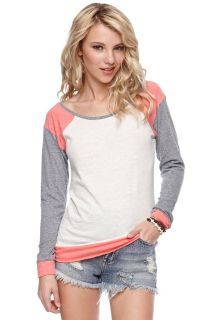 Womens Nollie Tee   Nollie Long Sleeve Colorblock Raglan Top