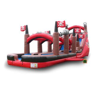 EZ Inflatables 20 ft. Pirate Water Slide Multicolor   WS212