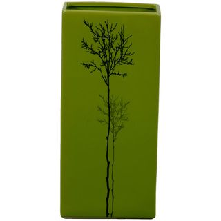 Urban Trends Collection Small Green Ceramic Vase (14 inches high x 3.5 inches wide x 6.5 inches longUPC 877101240310For decorative purposes onlyDoes not hold water CeramicSize 14 inches high x 3.5 inches wide x 6.5 inches longUPC 877101240310For decora