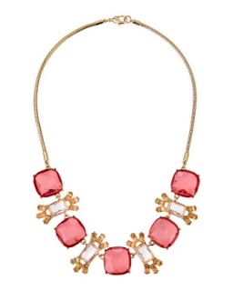 Ombre Marquise Necklace, Pink/Peach