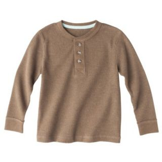 Cherokee Infant Toddler Boys Long Sleeve Thermal Henley Shirt   Mud Hut 5T