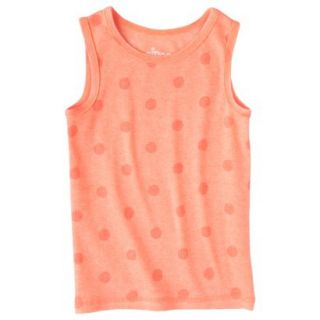 Circo Infant Toddler Girls Ribbed Polka Dot Tank Top   Moxie Peach 2T