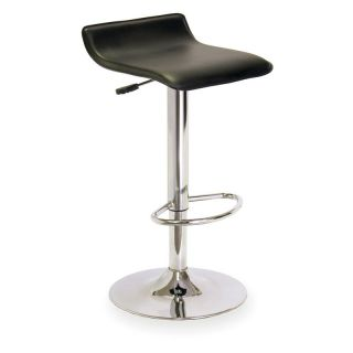 Winsome Wood Single Adjustable/Swivel Backless Air Lift Bar Stool Black   93129