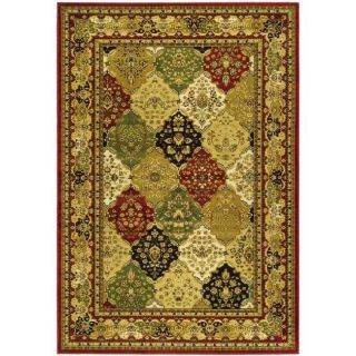Lyndhurst Collection Traditional Multicolor/red Rug (9 X 12)