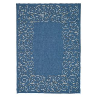 Safavieh Courtyard CY5139C Area Rug Blue/Ivory   CY5139C 6, 6.58 x 9.5 ft.