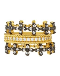 Floral Prong Set Stackable CZ Rings, Size 7